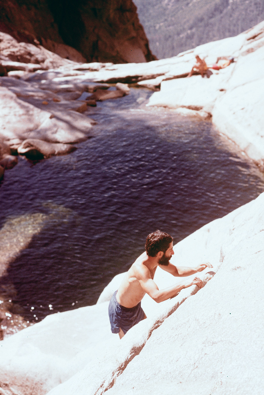 Richard (me) swimming in Yosemite Creek
