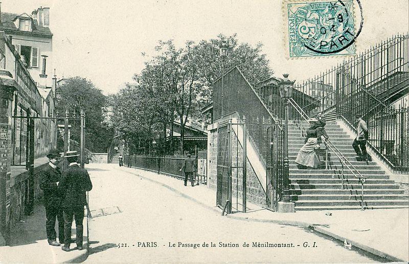 Passage de la Station-de-Ménilmontant, Paris 20e. CC BY SA Claude Shoshany