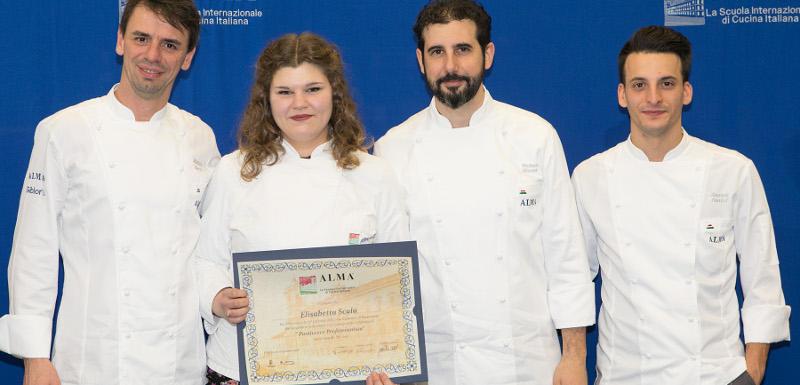 La castellana Elisabetta Scala diplomata pasticciera alla prestigiosa scuola di alta cucina Alma
