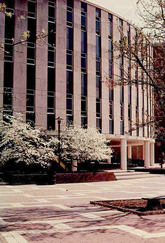 Harrelson Hall in the spring of 1984.