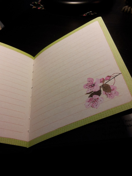 cherry-blossom-blank-page