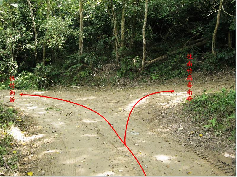 竹高崙山產道、保線路岔路