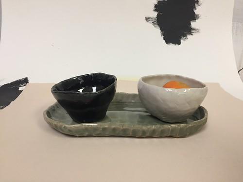 Pottery by artist Kaylon Khorsheed