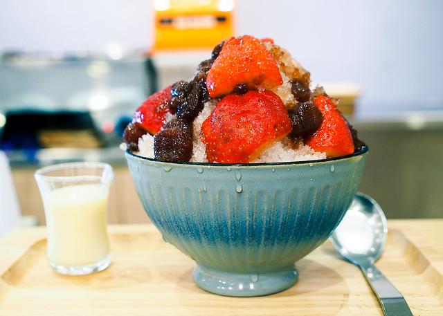 春美冰菓室 | 台北 松山–新口味草莓煉乳剉冰