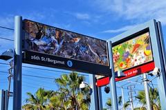 Platform Signs @ Bergamont Blue Line Station