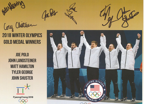 Autographs from the Curlers!