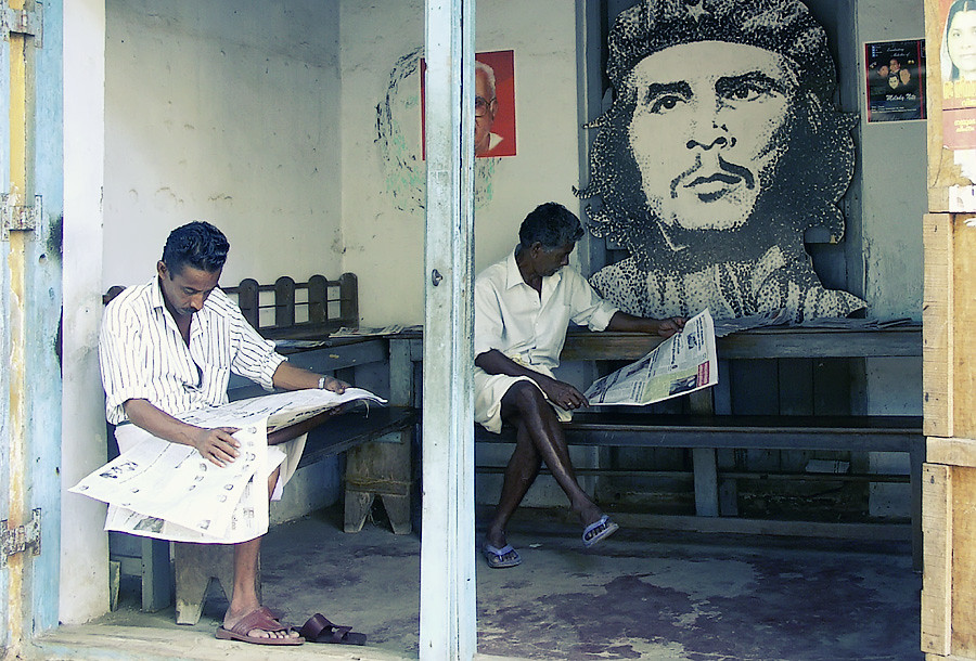 Коммунисты и Че.Керала, Индия © Kartzon Dream - авторские путешествия, авторские туры в Индию, тревел видео, фототуры
