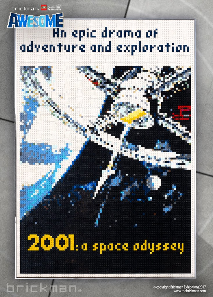 LEGO® brick 2001: A Space Odyssey movie poster