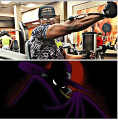 WHO DID IT BETTER?? COMMENT IF YOU KNOW THE NAME OF THE CARTOON BELOW! I'm looking forward to all of your guesses! #gamblehealthy ⚀❤ •🤔 •🤔 •💭 #fitness #fineblackmen #triceps #gains #goals #instagram #fitfa