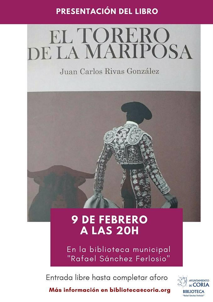 """Presentación del libro """"El torero de la mariposa"""" de Juan Carlos Rivas"""