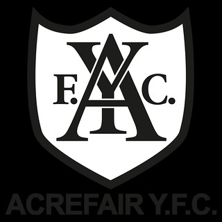 Acrefair Y.F.C. Logo Black