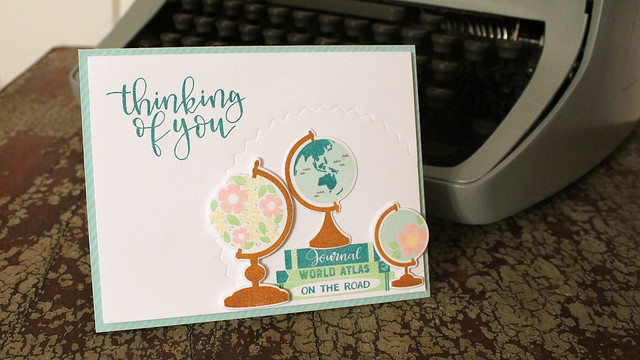 Thinking Of You Globes Card