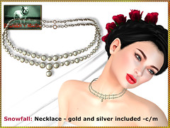 Bliensen - Snowfall - necklace