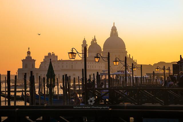 Basilica of St Mary of Health (Santa Maria della Salute) at Sunset, Venice