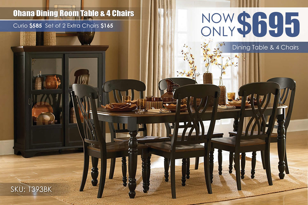 Ohana White Dining Room Set_1393BK