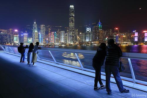 Ocean Terminal Deck at Night