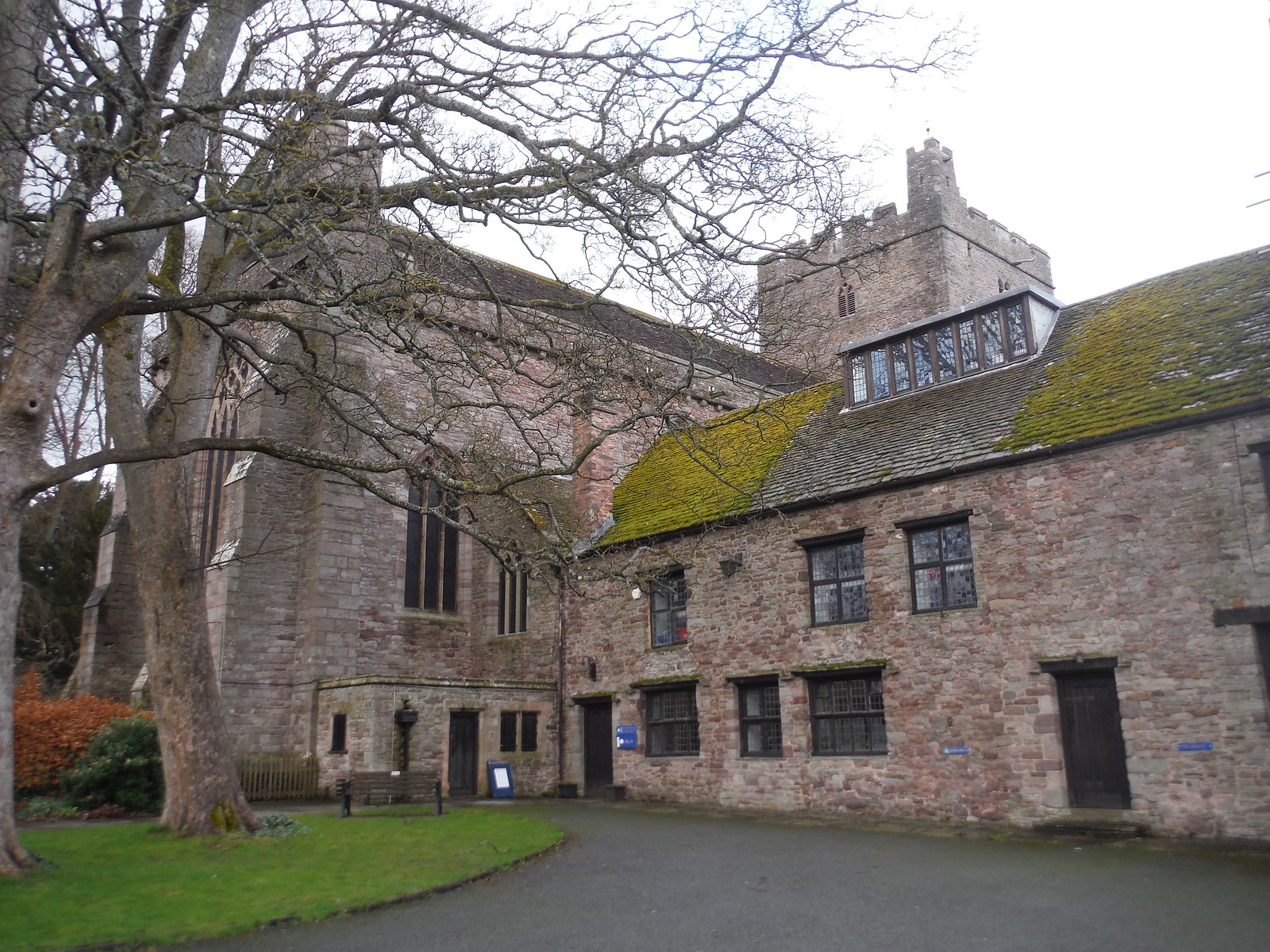 Brecon Cathedral, from Cathedral Close SWC Walk 306 - Brecon Circular (via Y Gaer, Battle and Pen-y-crug)