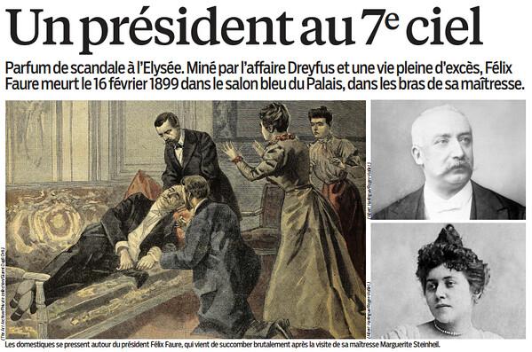 16 f vrier 1899 f lix faure victime de l 39 amour. Black Bedroom Furniture Sets. Home Design Ideas