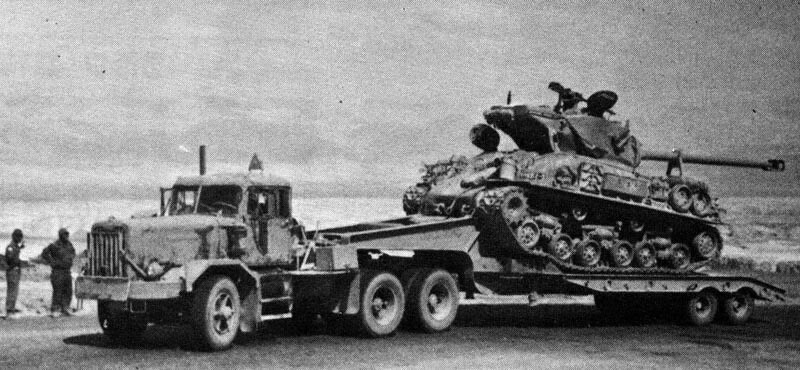 Autocar-transporter-with-sherman-p2t-1