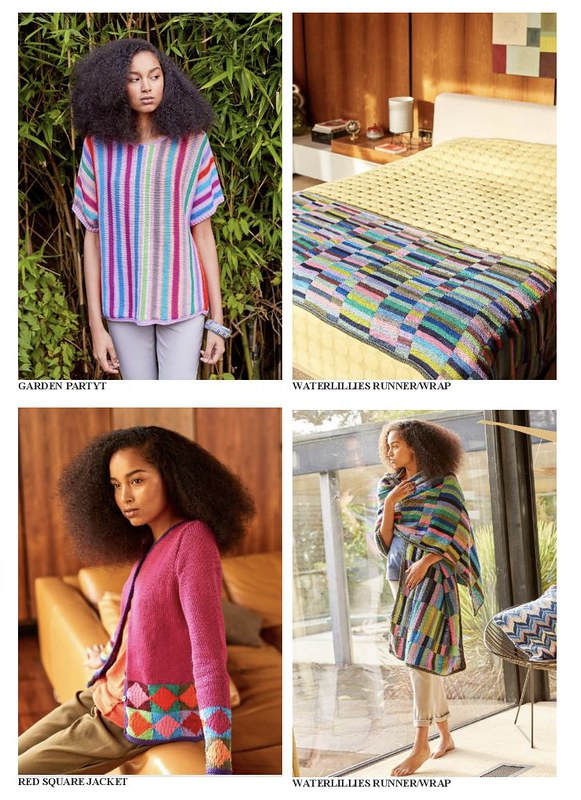 Complimentary Pattern Book of brand new designs by Kaffe Fassett for the 15 new Limited Edition Rowan Handknit Cotton Kaffe Colors.