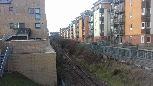 Powderhall branch line / future bike path