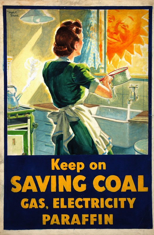 INF3-179_Fuel_Economy_Keep_on_saving_coal..._(housewife_at_kitchen_sink)_Artist_Marc_Stone