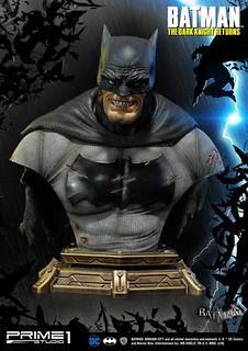 傷痕累累的黑暗騎士!! Prime 1 Studio《蝙蝠俠:黑暗騎士歸來》蝙蝠俠 バットマン PBDC-03 1/3 比例半身胸像作品