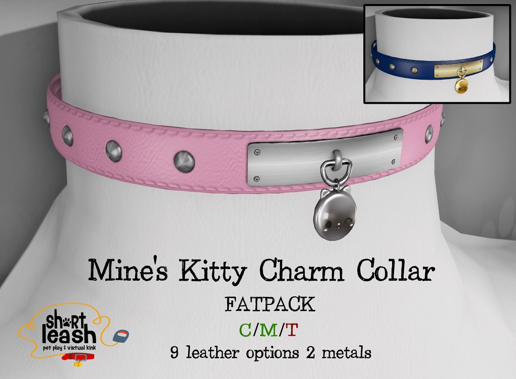 Short Leash - Mine's Kitty Charm Collar - TeleportHub.com Live!