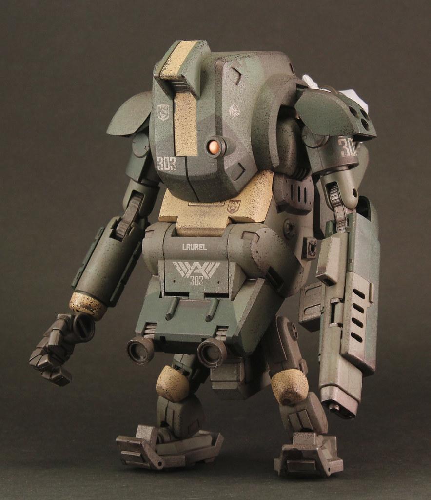 "《酸雨戰爭》3.75 吋系列 - 303海軍陸戰隊 空降SA機甲 ""傘兵人形機甲 LP2m"" 303rd Marine Team's para-armor SA- Airborne Laurel LP2m"