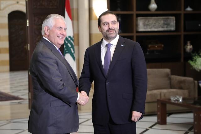 Secretary Tillerson Meets With Lebanese Prime Minister Saad Al Hariri