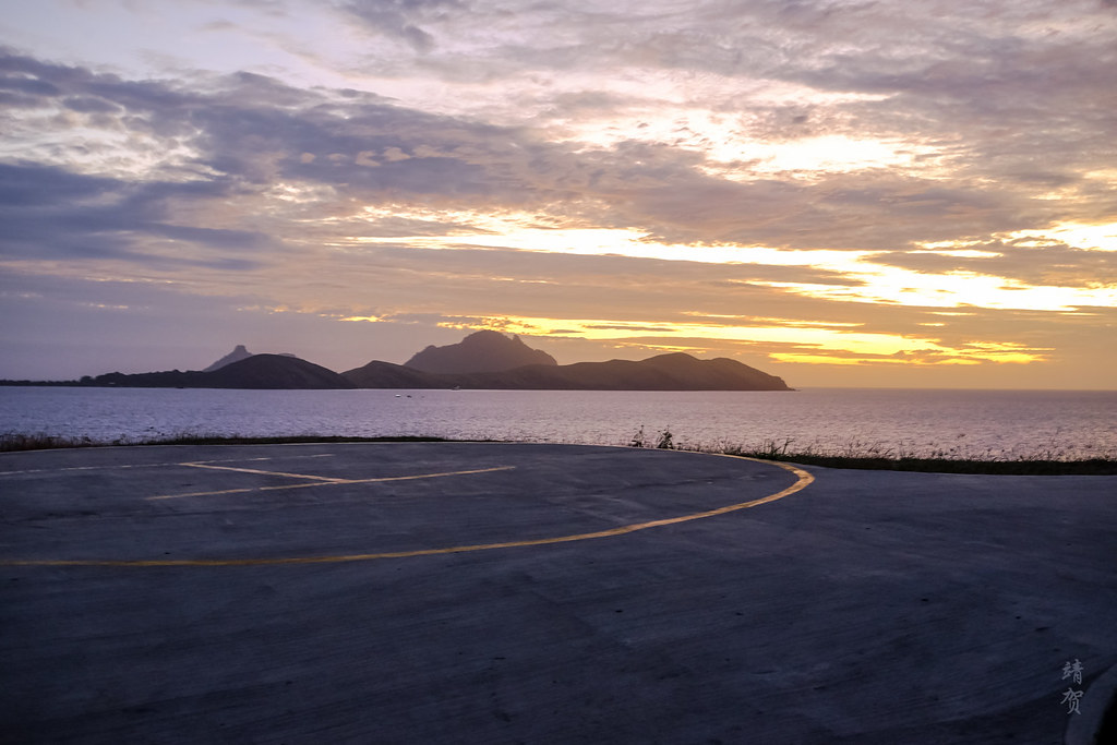 Sunset from the helipad