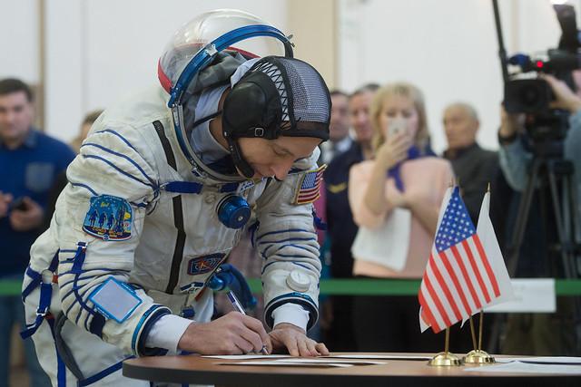 Expedition 55 crew member Drew Feustel