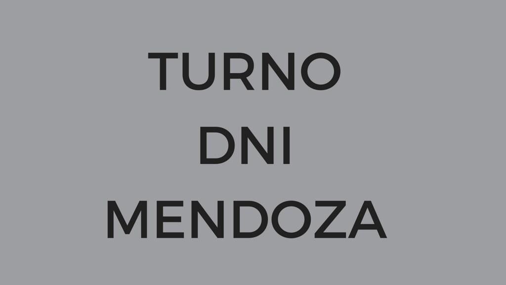 Turno para DNI Mendoza