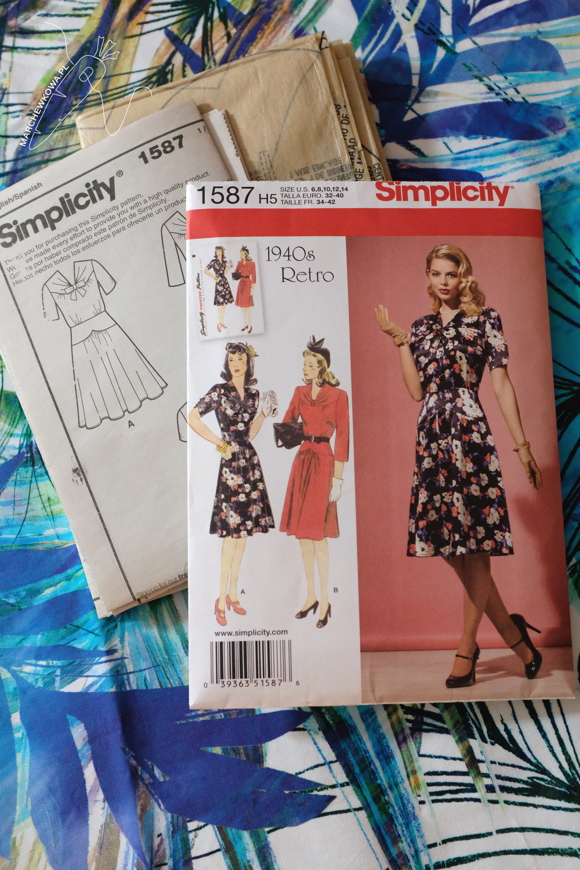 marchewkowa, blog, szycie, sewing, rękodzieło, handmade, moda, styl, vintage, retro, repro, 1950s, 1960s, Wrocław szyje, w starym stylu, Simplicity 1587,