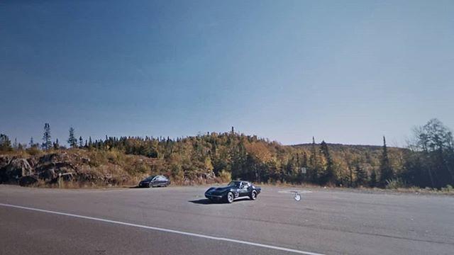 Corvette in the Fall. #ridingthroughwalls #xcanadabike #googlestreetview #ontario