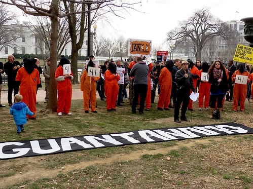 Telling Trump to close Guantanamo: The White House protest, Jan. 11, 2018