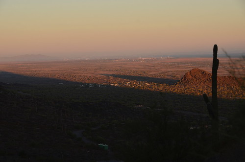 Picacho Peak shadows of mountains