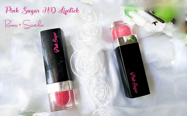 Pink Sugar HD Lipstick Review and Swatches