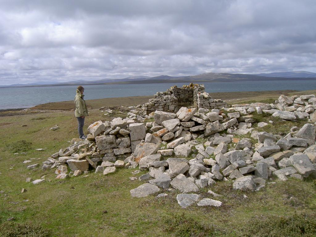 Ruins of Port Egmont, Falkland Islands. Photo taken on November 26, 2015.