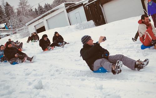 Human snow plows