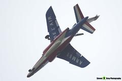 E73 6 F-TENE - E73 - Patrouille de France - French Air Force - Dassault-Dornier Alpha Jet E - RIAT 2014 Fairford - Steven Gray - IMG_1785