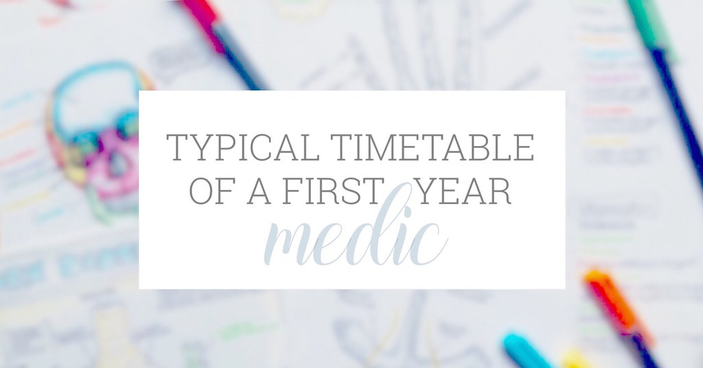 Typical timetable of a 1st year medical student