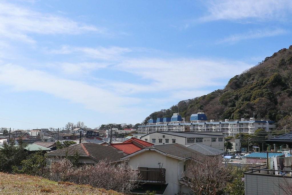 葉山の土地:三が岡の山の稜線がきれい!