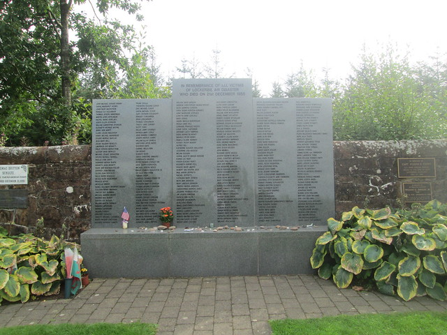Lockerbie, Garden of Remembrance Memorial Wall