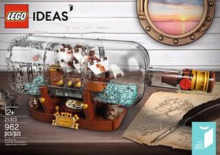 「官圖&販售資訊更新」裝載小船的玻璃瓶漂泊上岸~可以打撈回家啦! LEGO 21313 Ideas 系列【瓶中船】Ship In A Bottle