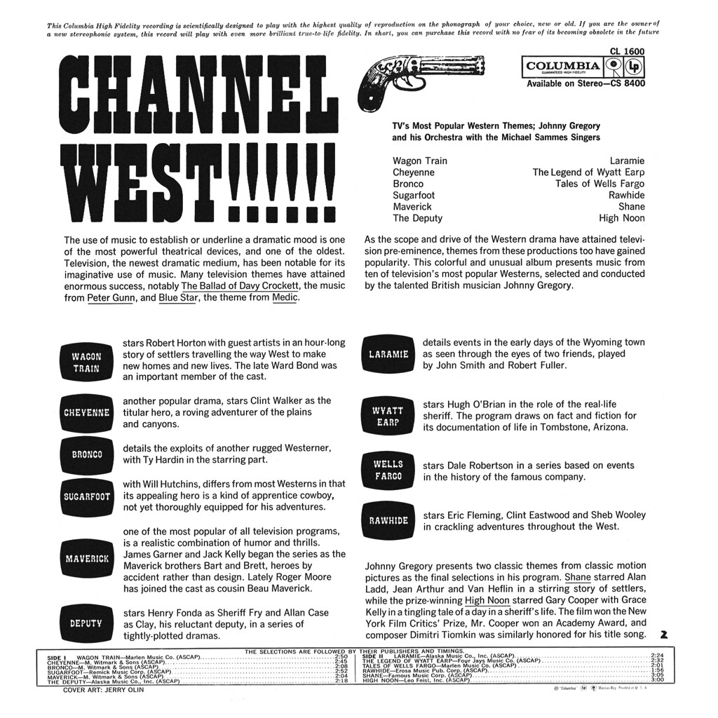 Johnny Gregory - Channel West