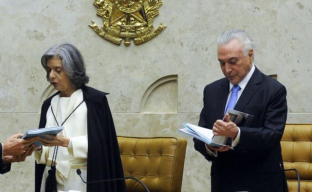 Ministra Cármen Lúcia no Senado durante início do ano Judiciário de 2018 - Créditos: Jane de Araújo/Agência Senado