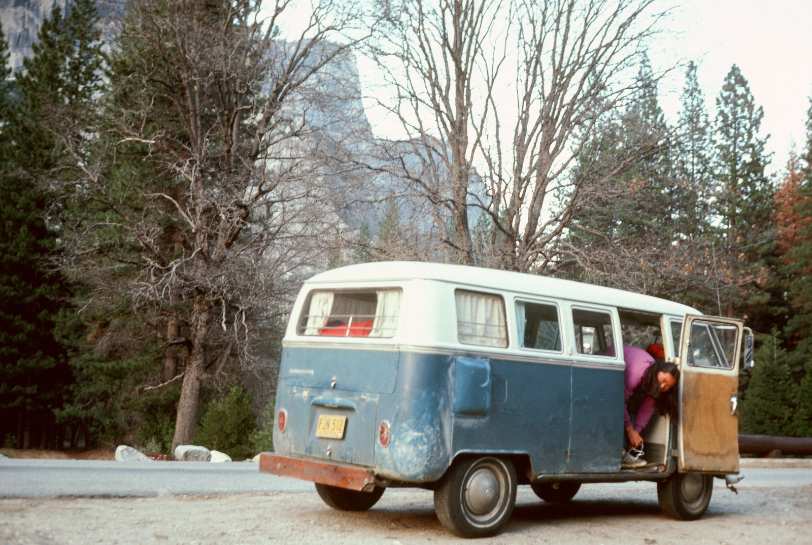 Faye in her VW Bus