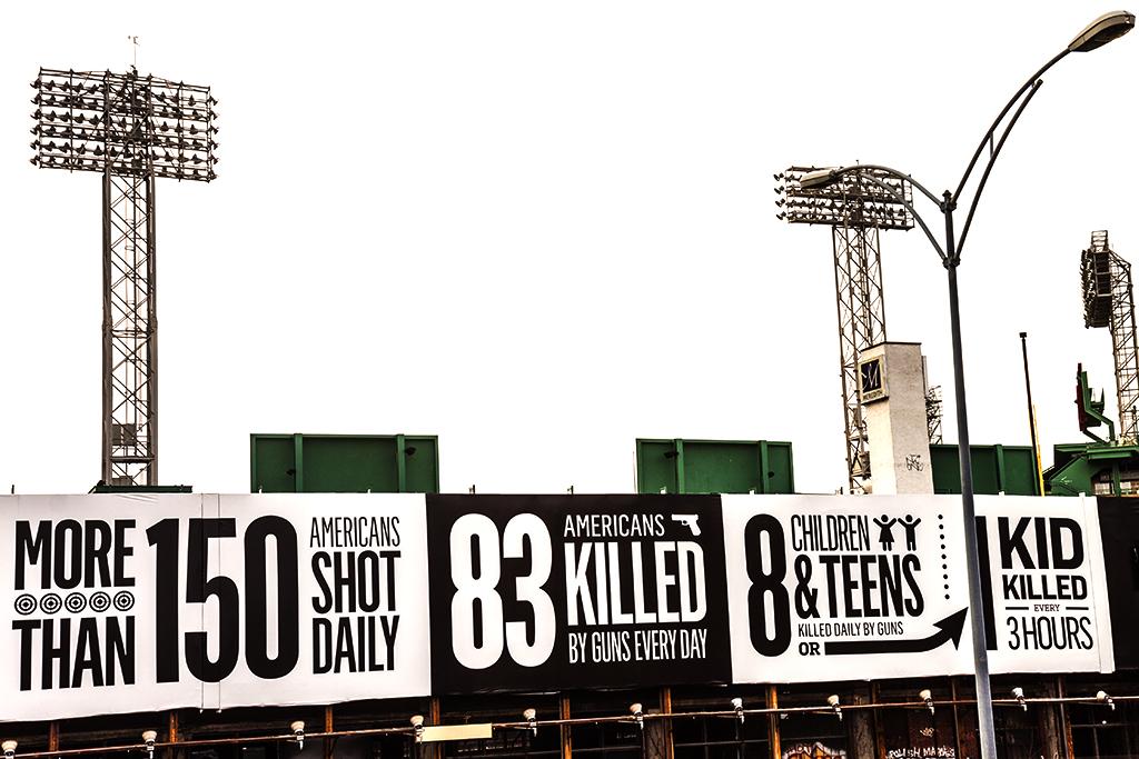 Anti-gun billboards near Fenway--Boston 2
