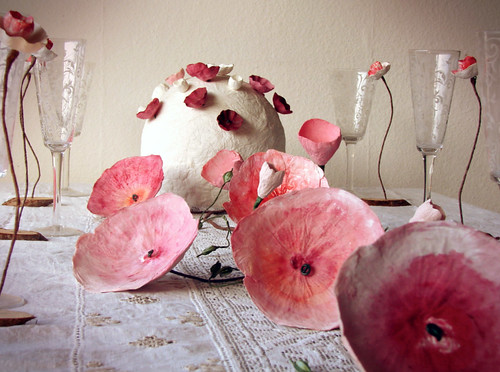Handmade Paper Floral Table Decor from Alessandre Fabre Repetto